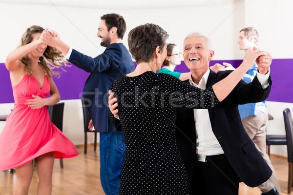 Grup insanlar dans dans sınıf kadın Stok fotoğraf © Kzenon