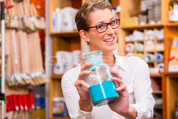 Interior designer with pigment colors in store Stock photo © Kzenon