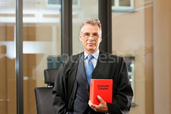 Lawyer with civil law code Stock photo © Kzenon