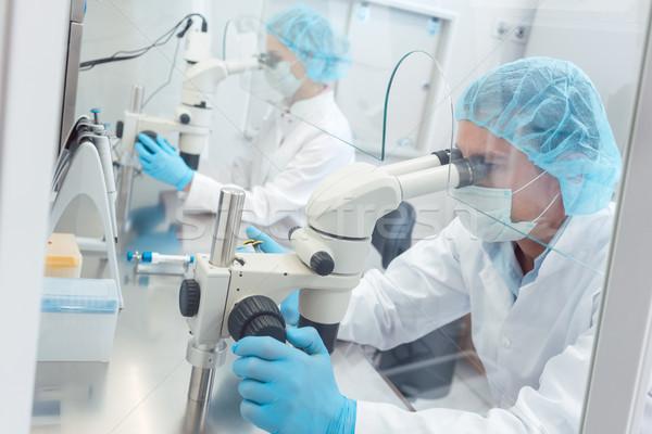 Deux laboratoire travail laboratoire regarder Photo stock © Kzenon