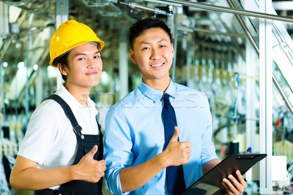 Stockfoto: Werknemer · productie · manager · eigenaar · ceo