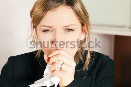 Woman coughing Stock photo © Kzenon