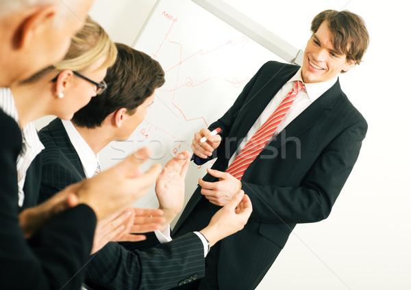 Business presentatie business team geslaagd selectieve aandacht Stockfoto © Kzenon