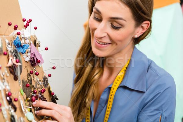 jewelry designer with Selection of pieces  Stock photo © Kzenon