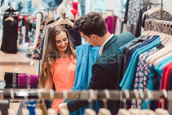 Kadın adam renk elbise moda Stok fotoğraf © Kzenon