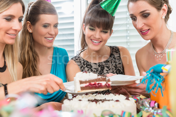 Superb Four Beautiful Women And Best Friends Smiling While Sharing A Birthday Cards Printable Benkemecafe Filternl