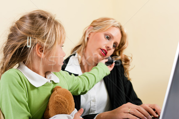 Businesswoman and mother cannot take it all Stock photo © Kzenon