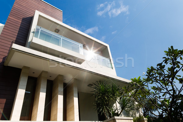 Asian house with modern architecture Stock photo © Kzenon