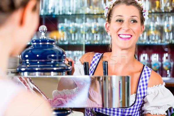 Паб женщины пива ресторан Бар Сток-фото © Kzenon