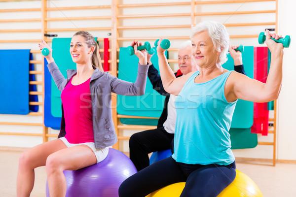 группа людей физиотерапия группа старший молодые люди женщину Сток-фото © Kzenon