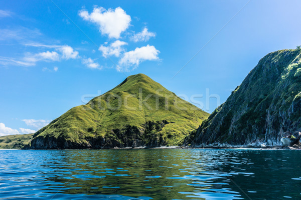 Idyllic seascape from Padar Island, Indonesia Stock photo © Kzenon