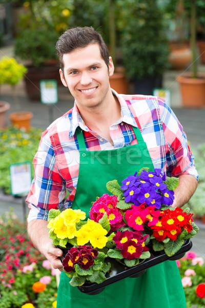 Ogrodnik rynku ogród kwiaciarz kwiaciarnia Zdjęcia stock © Kzenon