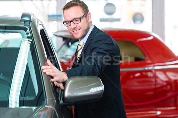Satıcı araba iş çalışmak Stok fotoğraf © Kzenon