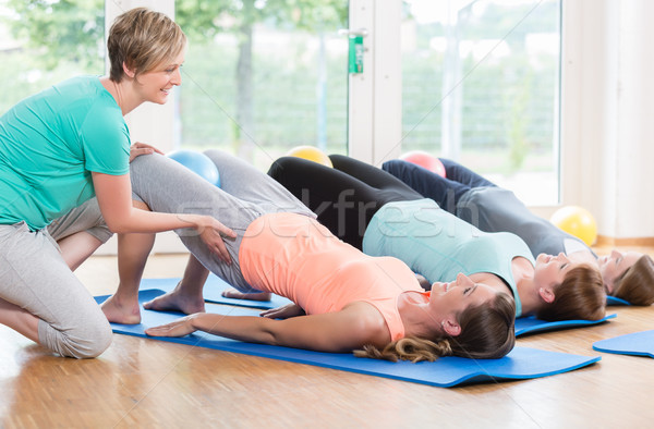 Women doing exercises for pelvis floor in postnatal regression c Stock photo © Kzenon