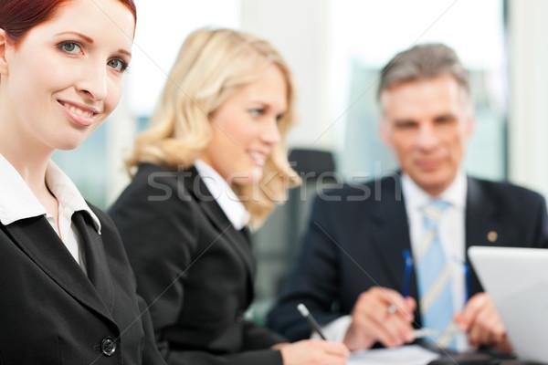 Foto stock: Gente · de · negocios · equipo · reunión · oficina · jefe