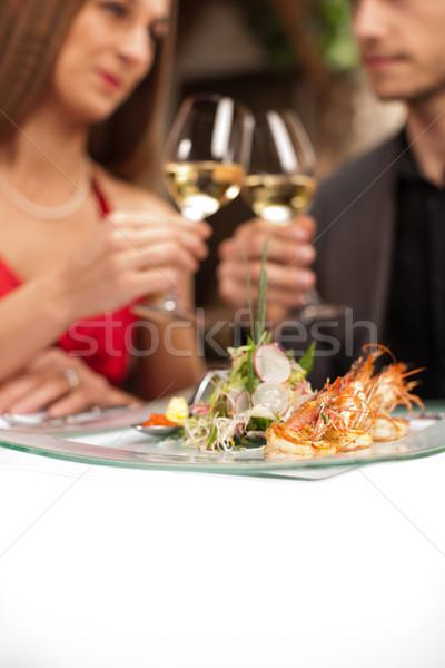 Casal ocasião foco fresco Foto stock © Kzenon