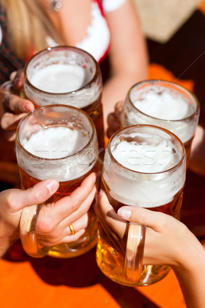 fresh beer in a Beer garden Stock photo © Kzenon