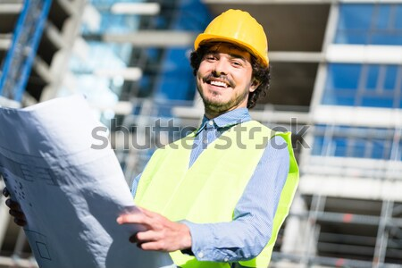 Asian Worker in a factory or industrial plant Stock photo © Kzenon