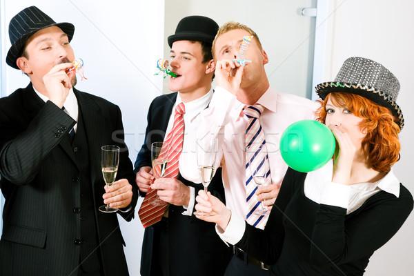 глупый вечеринка группа людей странный карнавальных Сток-фото © Kzenon