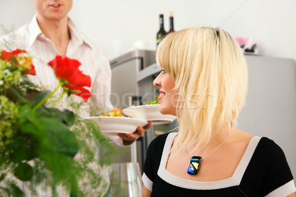 Serving the dishes Stock photo © Kzenon