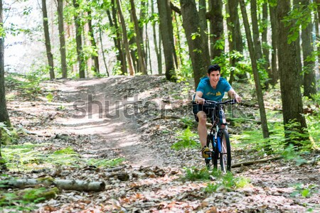 woman on mountain bike bicycle   Stock photo © Kzenon