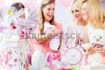 Baby Dusche Party kid Stock foto © Kzenon