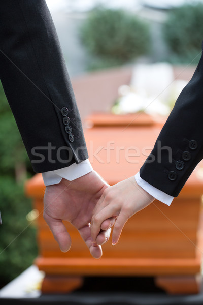 People at funeral consoling each other Stock photo © Kzenon