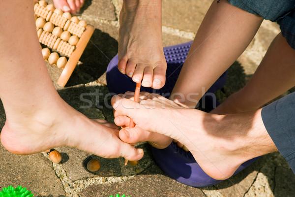 Egészséges láb torna férfiak nők különböző Stock fotó © Kzenon