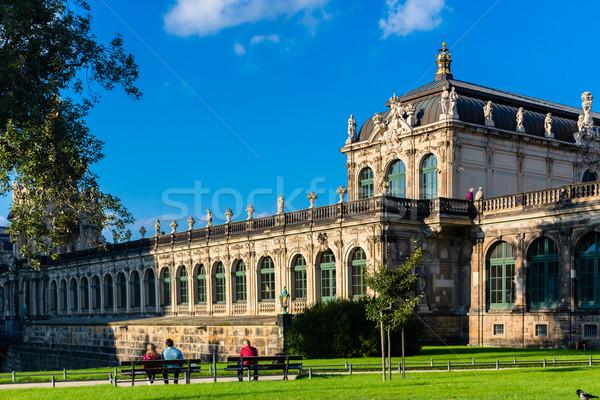 城 ドレスデン 青 公園 晴れた ランドマーク ストックフォト © Kzenon