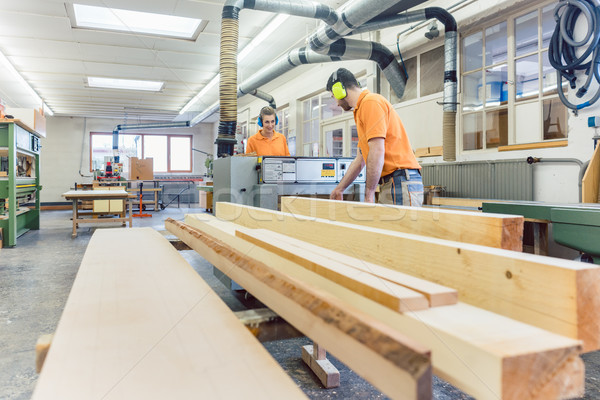 Stockfoto: Timmerman · werken · workshop · hout · man · werk