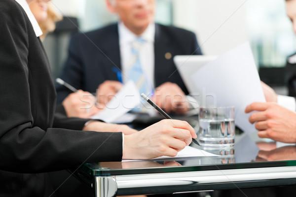 Foto stock: Reunión · de · negocios · trabajo · contrato · negocios · reunión · oficina