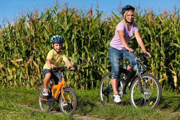 Família ciclismo verão aqui mãe Foto stock © Kzenon