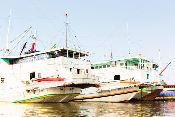 Liman Cakarta Endonezya su balık tutma Asya Stok fotoğraf © Kzenon
