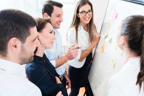 Business Brainstorming Ressource Planung Team Bord Stock foto © Kzenon