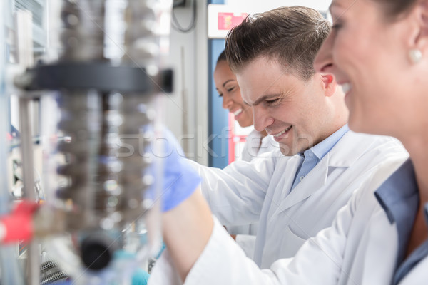 Scientists in research lab analyzing samples Stock photo © Kzenon