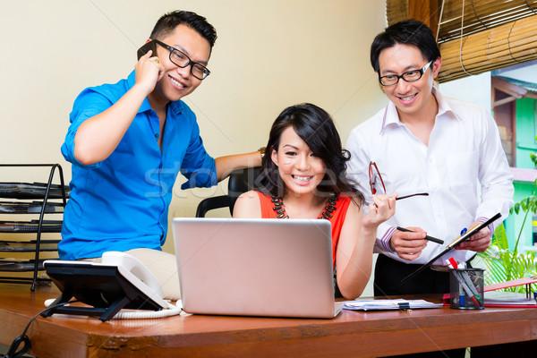 Creative бизнеса Азии команда заседание служба Сток-фото © Kzenon