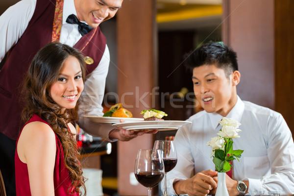 Stockfoto: Chinese · De · ober · diner · elegante · restaurant