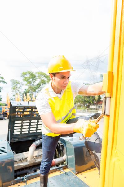 Foto stock: Asia · mecánico · construcción · vehículo · motor