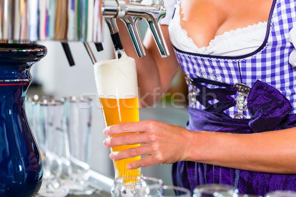 Veröffentlichung Zeichnung Bier Restaurant bar jungen Stock foto © Kzenon