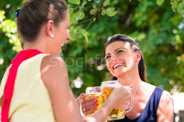 Women in beergarden having refreshment  Stock photo © Kzenon