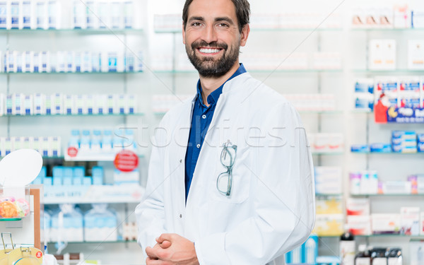 Apotheek permanente plank drugs store man Stockfoto © Kzenon
