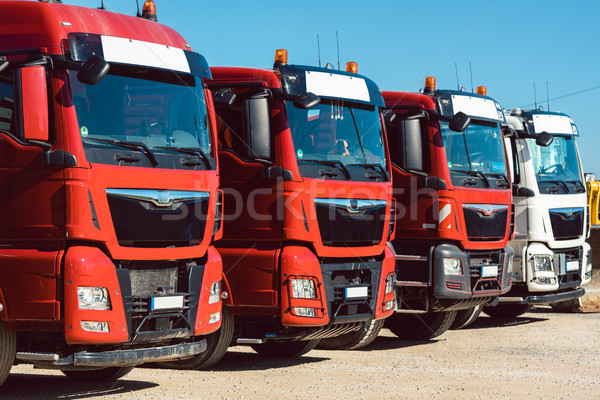 Trucks on premises of freight forwarding company Stock photo © Kzenon