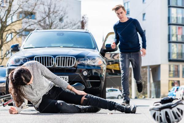 Ernstig verwondingen verkeer ongeval Stockfoto © Kzenon