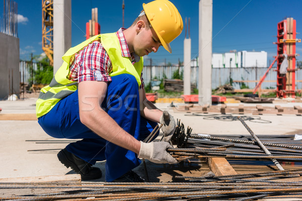 Niezawodny pracownika jakości stali bary widok z boku Zdjęcia stock © Kzenon
