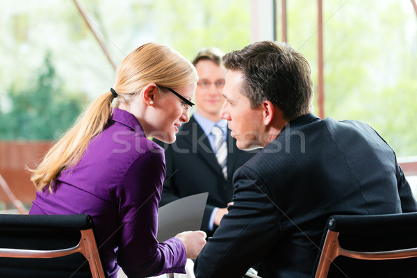 Business - Job Interview with HR and applicant Stock photo © Kzenon