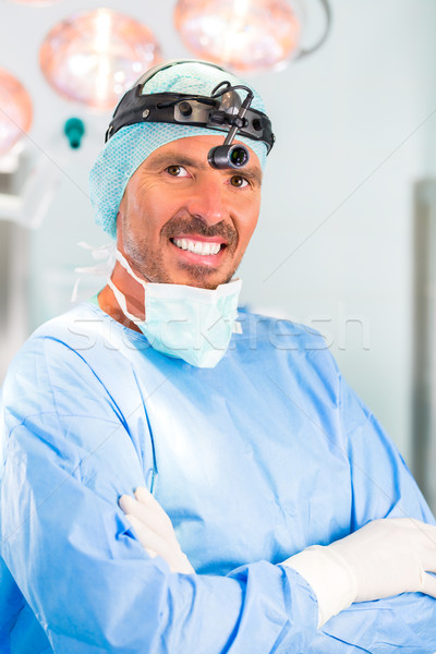 Hospital - doctor or surgeon in operating room Stock photo © Kzenon