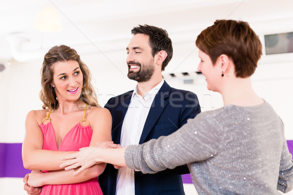 Instructor in dance school with couple Stock photo © Kzenon