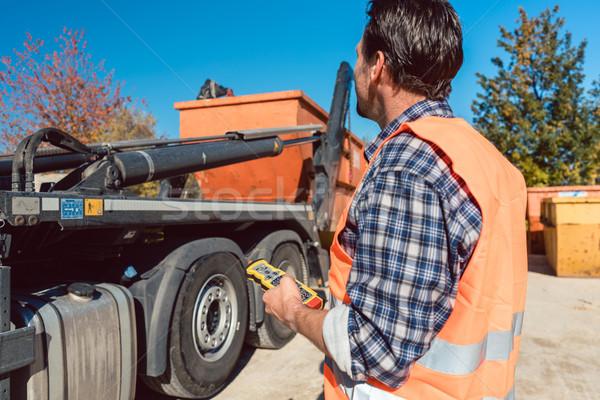 ワーカー 建設現場 コンテナ 廃棄物 トラック リモコン ストックフォト © Kzenon