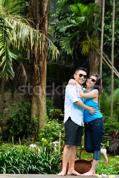 Asian people in exotic environment Stock photo © Kzenon