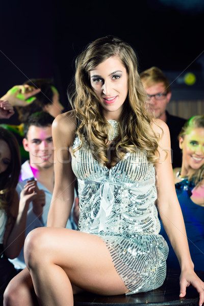 party people dancing in disco or club Stock photo © Kzenon